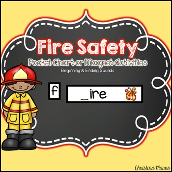 Fire Safety Pocket Chart or Magnetic Letter Activities