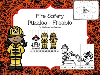 Fire Safety Puzzles Freebie