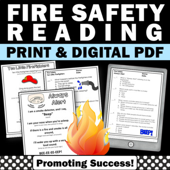 Fire Safety Week Activities Finger Plays & Reading Compreh