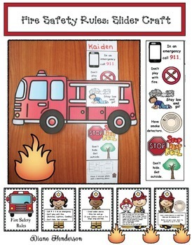 Fire Safety Rules: Fire Truck Slider Craftivity & Fire Saf