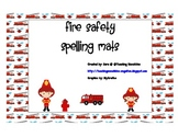 Fire Safety Spelling Mats