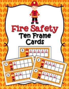 Fire Safety Ten Frame Cards