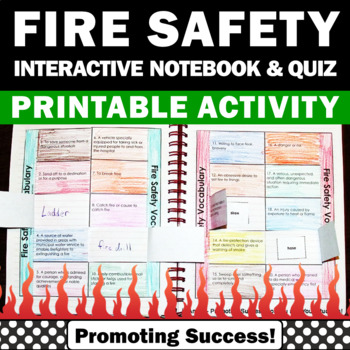 Fire Safety Prevention Week Activities Interactive Noteboo
