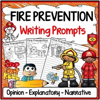 Fire Safety Writing Prompts {Narrative Writing, Informativ