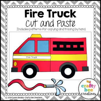 Fire Truck Cut and Paste