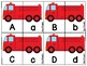 Fire Truck Uppercase & Lowercase Letter Matching