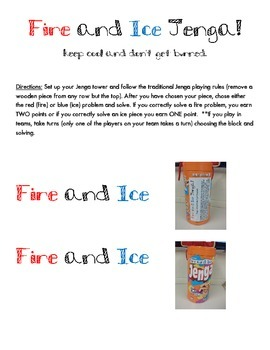 Fire and Ice Jenga