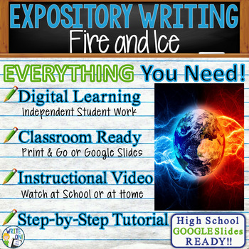 Fire and Ice by Robert Frost -  Text Dependent Analysis Ex