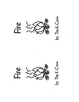 Fire (blackline emergent reader)