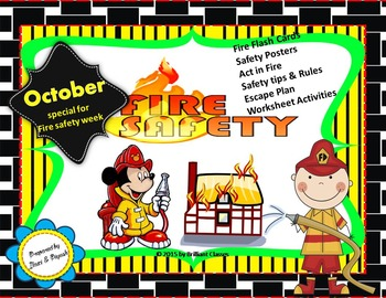 Fire safety Week booklet (Book/Flash cards/posters/Activit