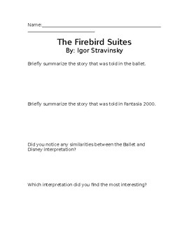 Firebird Suites Comparison Worksheet