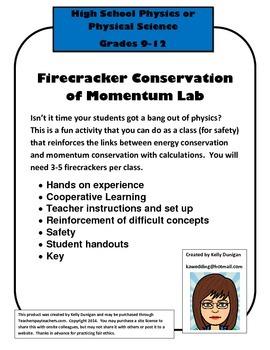 Firecracker Energy and Momentum Lab