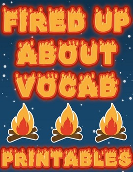 Fired Up About Vocab Word Wall Signs (Editable!) - Freebie!