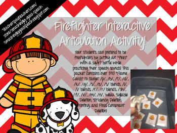 Firefighter Interactive Articulation Activity!