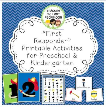 Firefighter & Police Officer Printable Activities for Pres