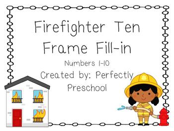 Firefighter Ten Frame Fill-in {Dollar Deal}