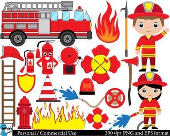 Firefighters Set Clipart Digital Clip Art Graphics 47 imag