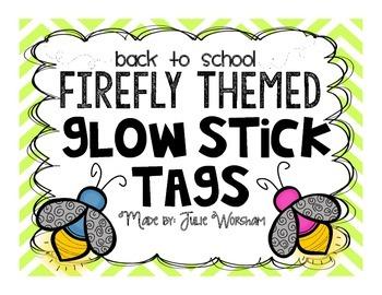 Firefly Glow Stick Tags