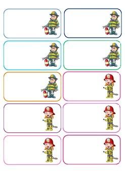 Fireman Bag Labels