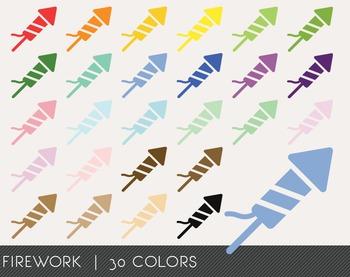 Firework Digital Clipart, Firework Graphics, Firework PNG,