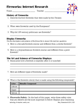 Fireworks: Internet Research