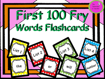 First 100 Fry Words Flashcards