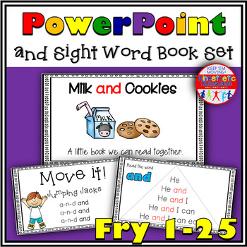First 25 Sight Words: PowerPoint and Emergent Reader Bundle