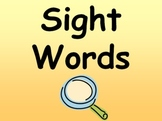 First 50 Fry words sight word book/Kindergarten