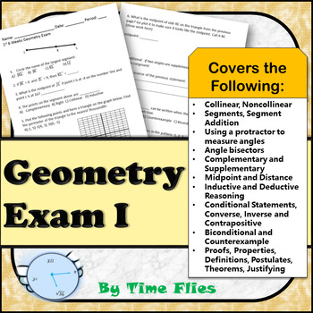 First 6 Weeks Geometry Test