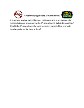The Bill of Rights: First Amendment and Cyber-bullying