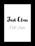First Class First Lines Posters