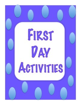 First Day Speaking Activities