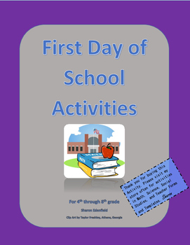 First Day Activities