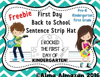 First Day Back to School Sentence Strip Hat