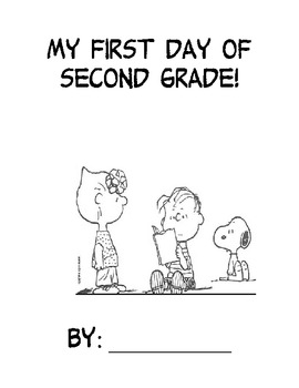 First Day Book - 2nd Grade - Snoopy Themed