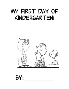 First Day Book - Kindergarten - Snoopy Themed
