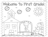 First Day Coloring Worksheet {1st Grade}