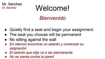 First Day (ESL / SDAIE) World History Assignment Bundle En