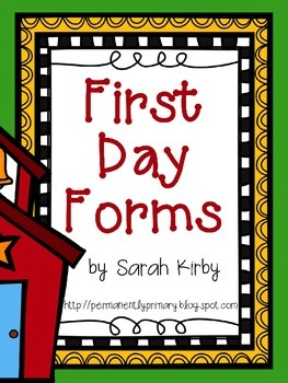 First Day Forms - Editable