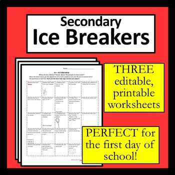 Icebreakers : First Day Ice Breaker… Middle School Edition