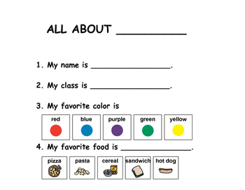 First Day Introduction Sheet