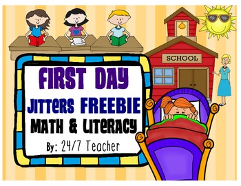 First Day Jitters: Craftivities, Reading Response, Glyph,
