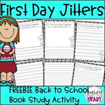 First Day Jitters FREEBIE, Back to School Activities, Firs