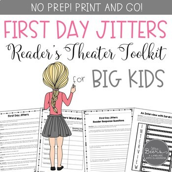 First Day Jitters Reader's Theater and Reading Literature