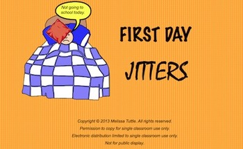 First Day Jitters SMARTBoard ~ 4 day lesson ~ Printables,