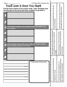 First Day Jitters - Sequencing / Retelling