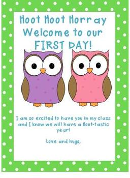First Day Letter Owl Theme