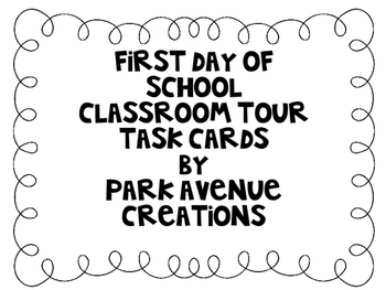 First Day Task Cards