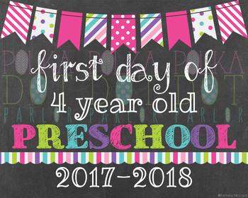 First Day of 4 Year Old Preschool 2016-2017 School Year -