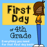 First Day of Fourth Grade Bundle